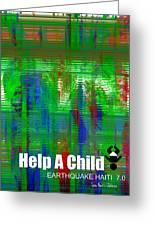 Help Save An Orphan Greeting Card by Fania Simon