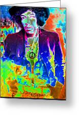 Hendrix Greeting Card by David Lee Thompson