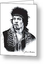 Hendrix No.02 Greeting Card by Caio Caldas