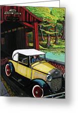 Henry Bridge Greeting Card by Bob Crawford