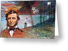 Henry David Thoreau Greeting Card by John Lautermilch
