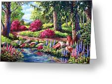 Her Reading Hideaway Greeting Card by David G Paul