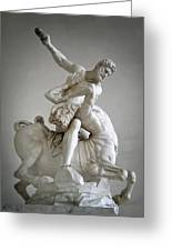 Hercules And Centaur Sculpture Greeting Card by Artecco Fine Art Photography