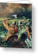 Hereward The Wake Greeting Card by Andrew Howat