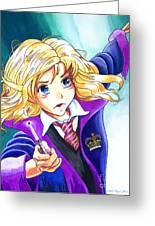 Hermione Greeting Card by David Lloyd Glover