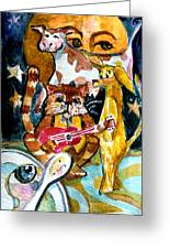 Hey Diddle Diddle Greeting Card by Mindy Newman