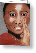 Hey You Greeting Card by Mireille K