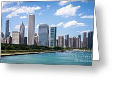 Hi-res Picture Of Chicago Skyline And Lake Michigan Greeting Card by Paul Velgos