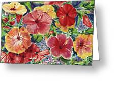 Hibiscus Impressions Greeting Card by Patti Bruce - Printscapes