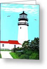 Highland - Cc - Lighthouse Painting Greeting Card by Frederic Kohli