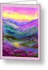 Highland Light Greeting Card by Jane Small