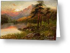 Highland Solitude Greeting Card by Frank Hider