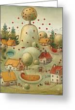 Hill Greeting Card by Kestutis Kasparavicius