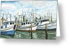 Hillman's Boats Greeting Card by Don Bosley