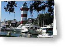 Hilton Head South Carolina Light House Greeting Card by Richard Singleton