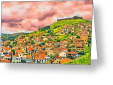 Hios Volissos Greeting Card by George Rossidis