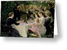 Hip Hip Hurrah Greeting Card by Peder Severin Kroyer