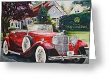His And Hers Packard 1932 Greeting Card by Mike Hill