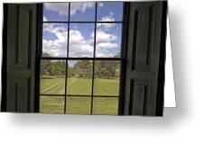 Historic Drayton Hall Window in Charleston South Carolina Greeting Card by Dustin K Ryan