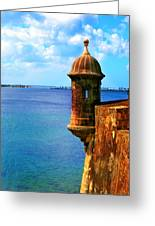 Historic San Juan Fort Greeting Card by Perry Webster