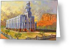 Historic St. George Temple Greeting Card by Jeff Brimley