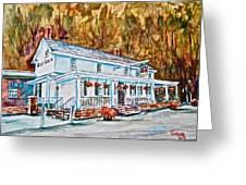 Historic Valley Green Inn Greeting Card by Joyce A Guariglia