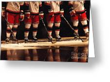 Hockey Reflection Greeting Card by Karol  Livote