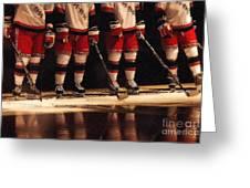 Hockey Reflection Greeting Card by Karol Livote