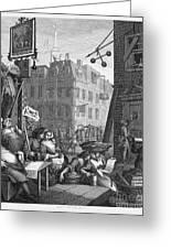 Hogarth: Beer Street Greeting Card by Granger