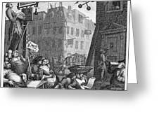 HOGARTH: BEER STREET Greeting Card by Granger