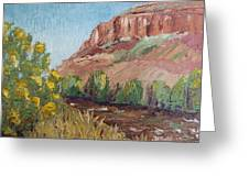 Hogback In Early Fall At Watson Lake Greeting Card by Margaret Bobb
