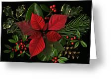 Holiday Greenery Greeting Card by Deborah J Humphries