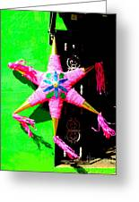 Holiday Pinata 2 By Darian Day Greeting Card by Olden Mexico