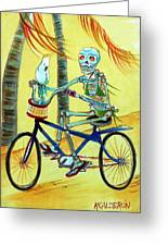 Hollywood Bicycle Woman Greeting Card by Heather Calderon