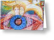 Holy Ghost Shining Eyes Greeting Card by Richard  Hubal