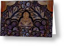 Holy In Peace And Acryl Greeting Card by Pepita Selles