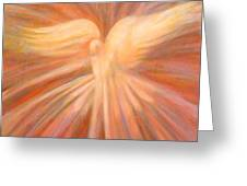 Holy Spirit Appearing As A Dove Greeting Card by Kip Decker