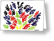 HOMAGE TO MATISSE Greeting Card by Teddy Campagna