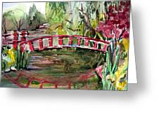Homage to Monet Greeting Card by Mindy Newman