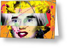 Homage To Warhol Greeting Card by Gary Grayson