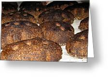 Homemade Lithuanian Rye Bread Greeting Card by Ausra Paulauskaite
