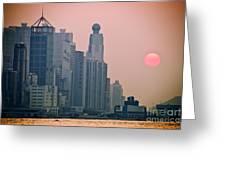 Hong Kong Island Greeting Card by Ray Laskowitz - Printscapes
