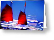 Hong Kong Lights Greeting Card by Ray Laskowitz - Printscapes