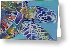 Honu Greeting Card by Marionette Taboniar