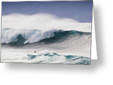 Hookipa Maui Big Wave Greeting Card by Denis Dore