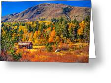 Hope Valley California Rustic Barn Greeting Card by Scott McGuire