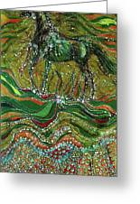 Horse Rises From The Earth Greeting Card by Carol Law Conklin