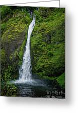 Horsetail Falls Greeting Card by Jon Burch Photography