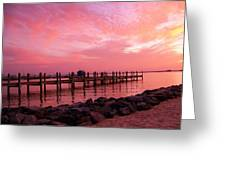 Hot Bay Sunset Greeting Card by Trish Tritz