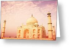Hot Taj Mahal Greeting Card by Nila Newsom